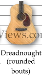 Dreadnought standard acoustic guitar